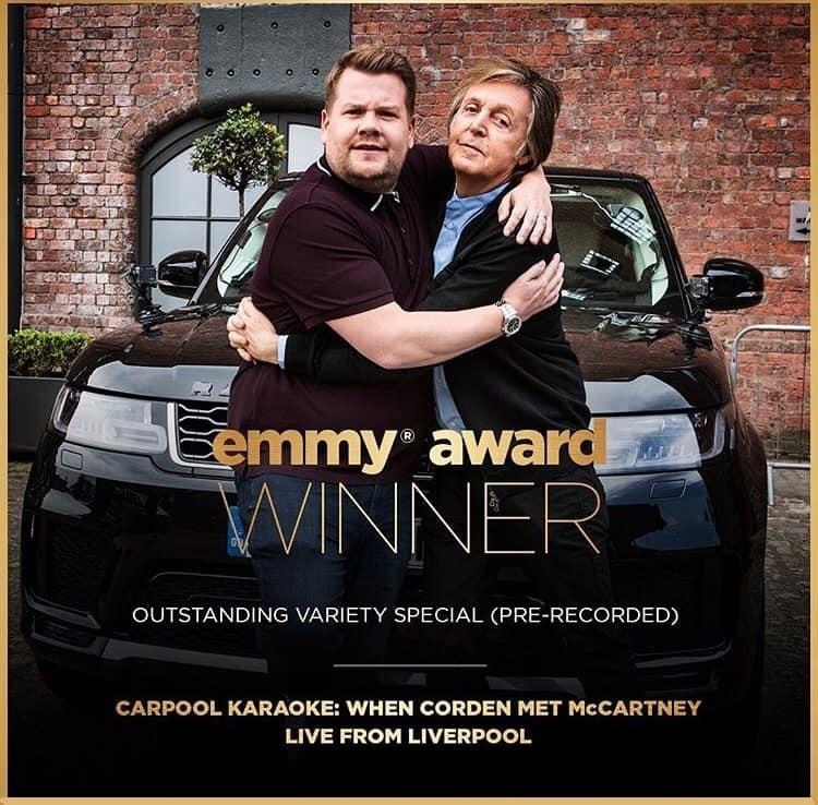 The Beatles Polska: Odcinek Carpool Karaoke z udziałem Paula McCartneya otrzymał nagrodę Emmy
