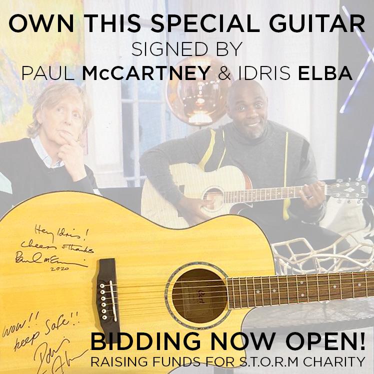 The Beatles Polska: Gitara Idrisa Elby podpisana przez Paula McCartneya sprzedana na aukcji