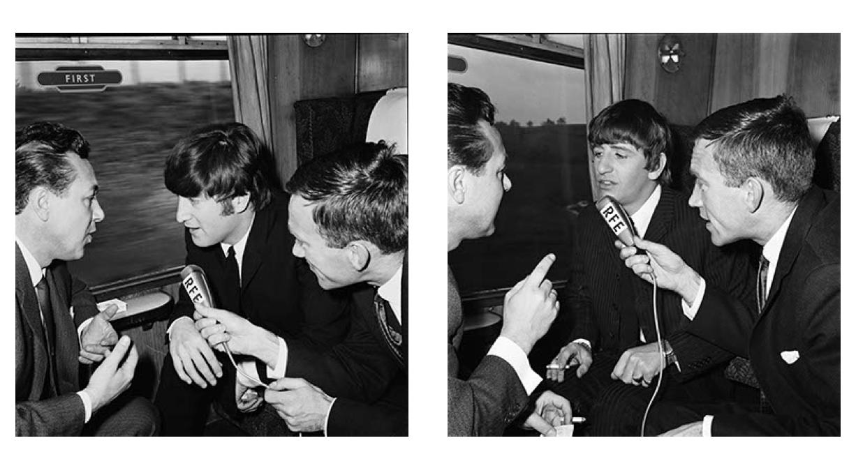The Beatles Polska: Polscy dziennikarze RWE przeprowadzają wywiad z Beatlesami