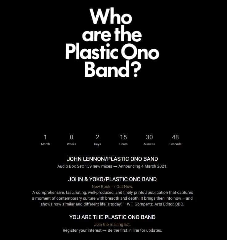 "The Beatles Polska: Zapowiedź boksu ""John Lennon/Plastic Ono Band"""